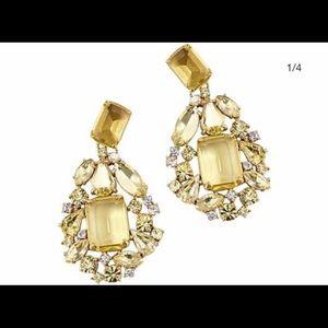 NWT J Crew Glass bead earrings. Color: citrus.
